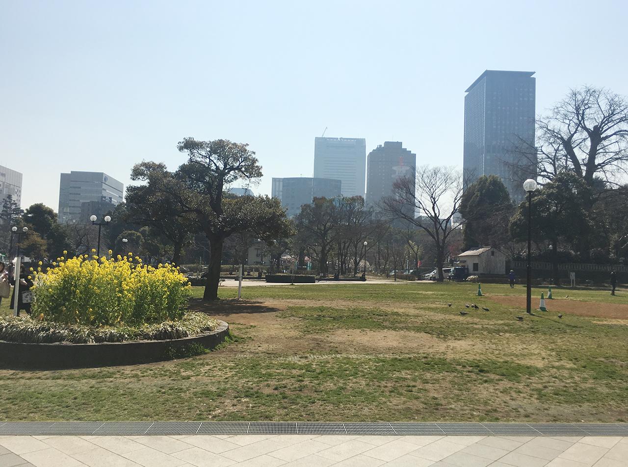 東京の芝公園は緑がある
