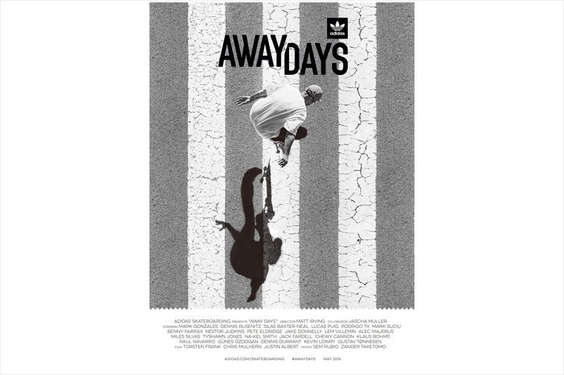 アディダスのスケボーフィルム『Away Days』が渋い。