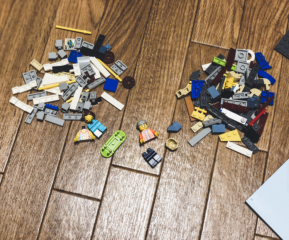 レゴ(LEGO) ブロックで作れるスケボー