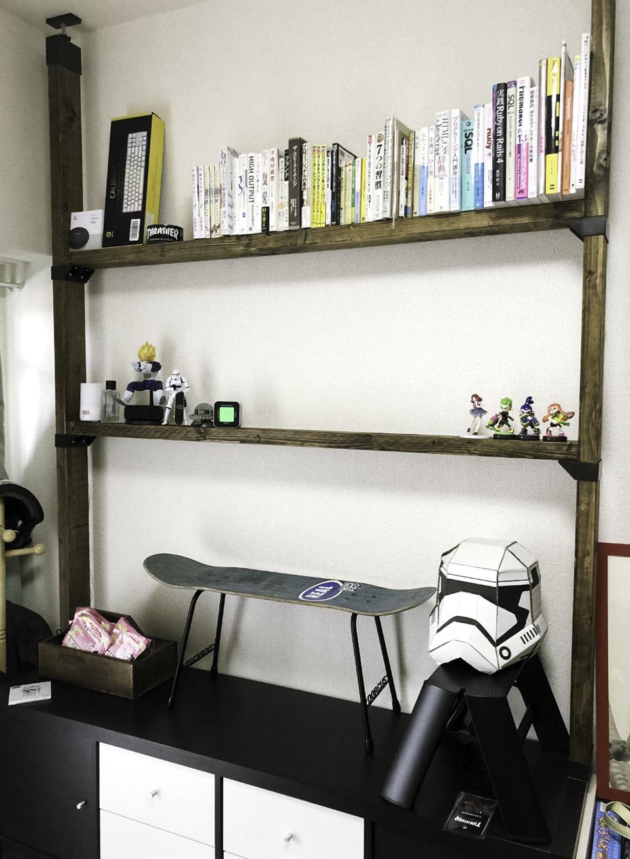 壁面本棚DIYの全体