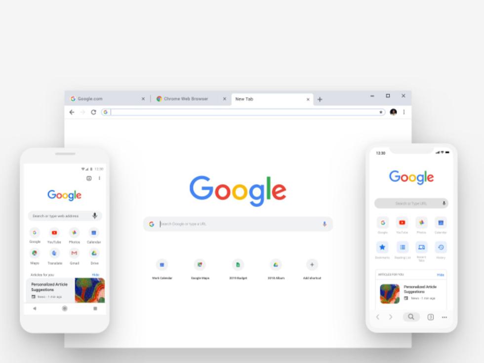 Google Chromeの10周年の新デザイン