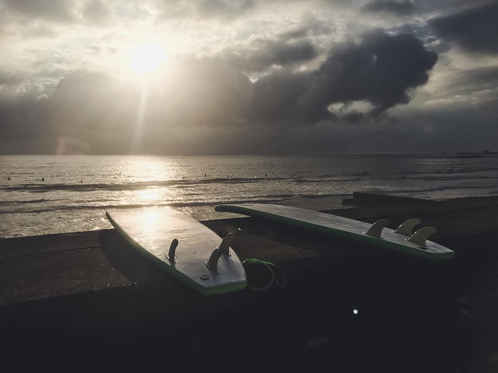 人生初のサーフィン体験