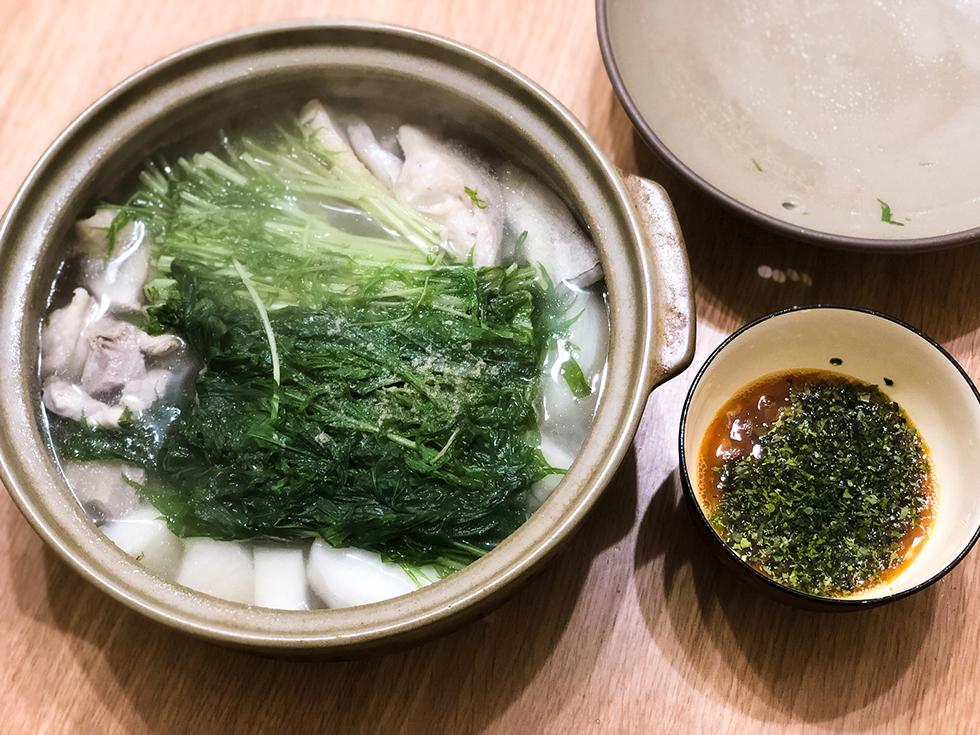鶏と鱈の水炊き鍋