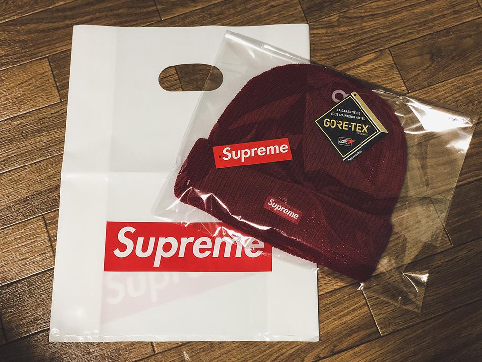 防寒最強ニット帽。Supreme と GORE-TEX(ゴアテックス)ダブルネームのニット帽をレビュー