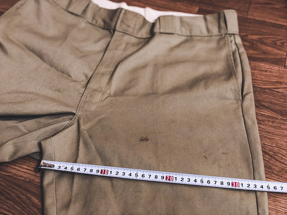 ディッキーズ 874 ワタリのサイズ計測