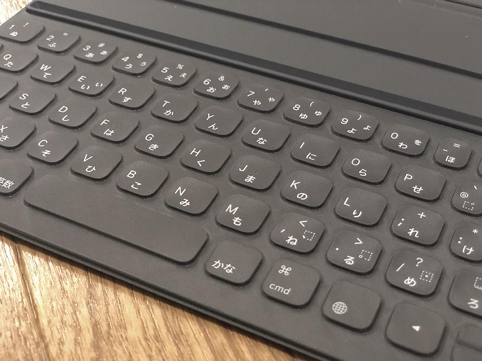 Smart Keyboard Folioのキーボードの感じ