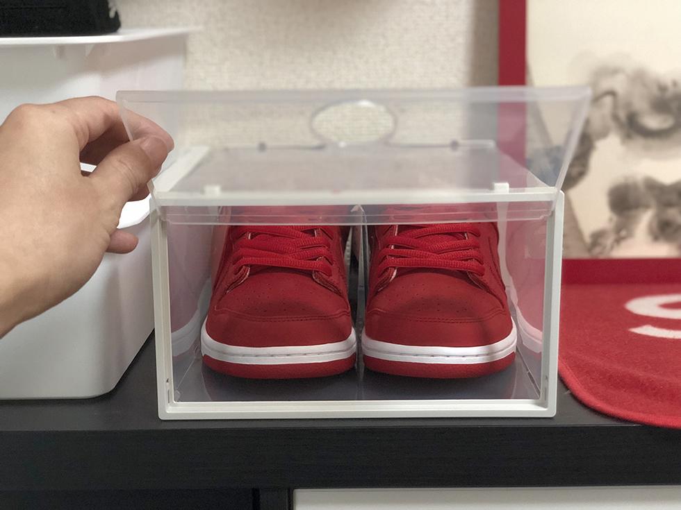 【スニーカー収納ボックス】おしゃれなスニーカーケースにお気に入りのナイキなどのシューズを入れて鑑賞