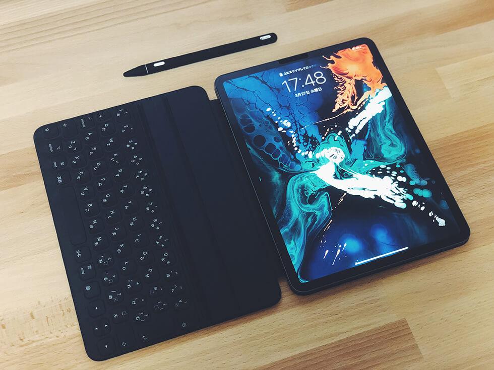 iPad Pro 11インチと Smart Keyboard Folio と Apple Pencil(第2世代)