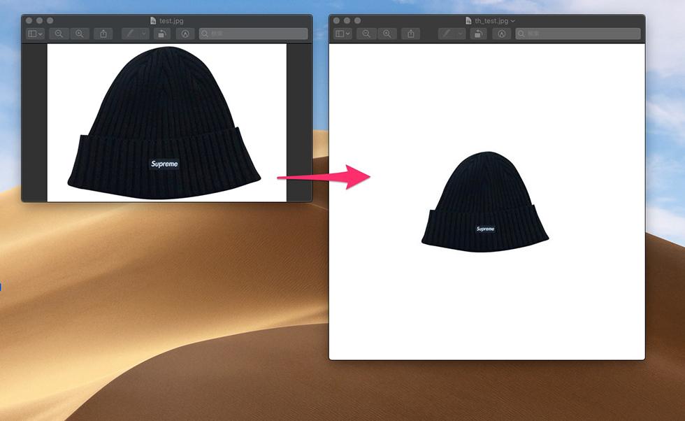 Th-MakerXを使った画像リサイズ結果