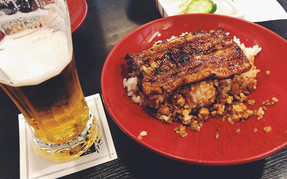 ビールが進む美味しいうな丼