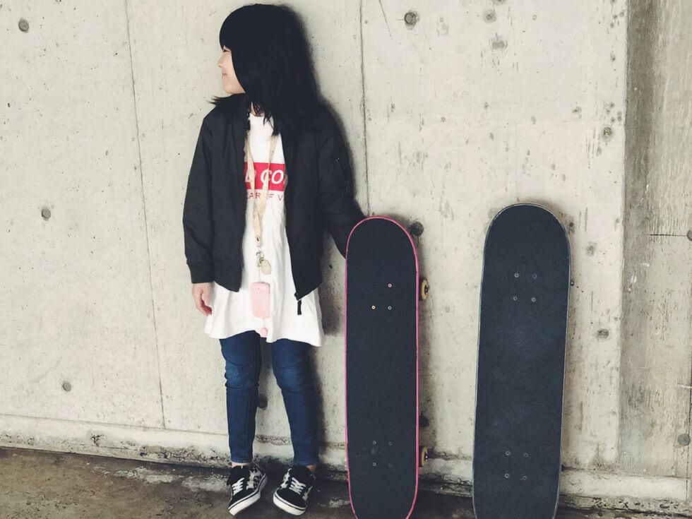 【スケボー女子】子供のスケボーファッションはこんな感じでOK【キッズ】