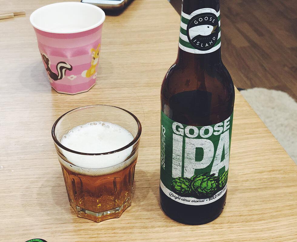 アメリカ産エールビール Goose IPA(グースアイランド・アイピーエー)