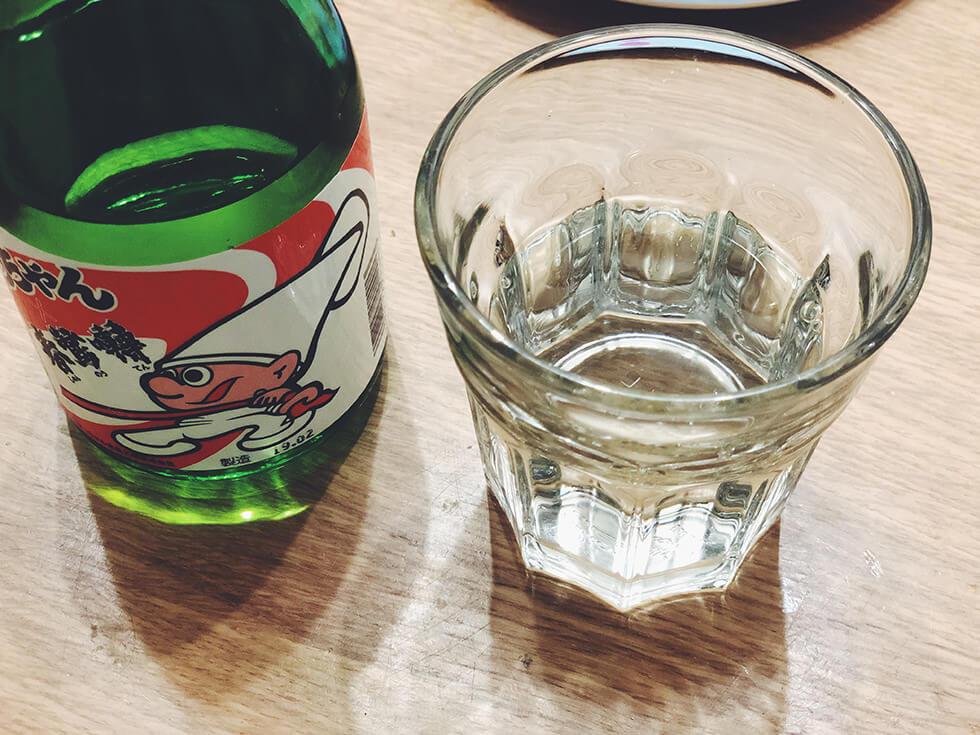 カットよっちゃん専用の日本酒(春鶯囀コラボ)飲むところ