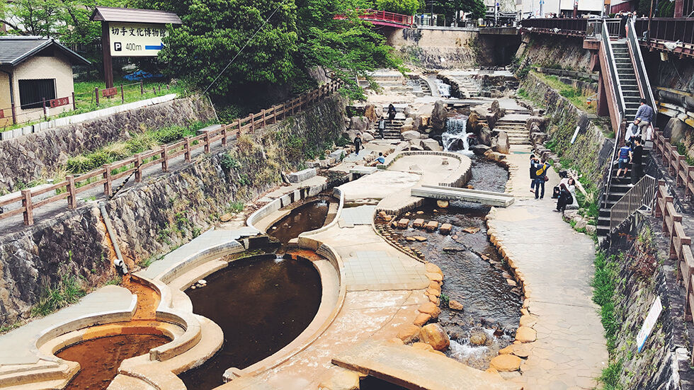 有馬川河川親水公園の風景