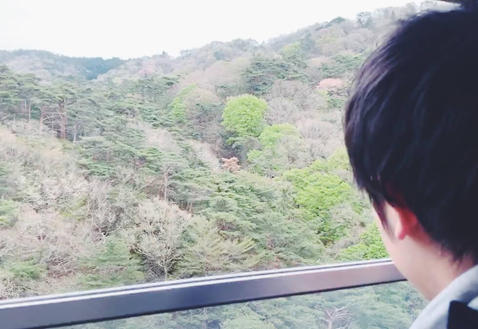 ロープウェイからの六甲山の眺め1