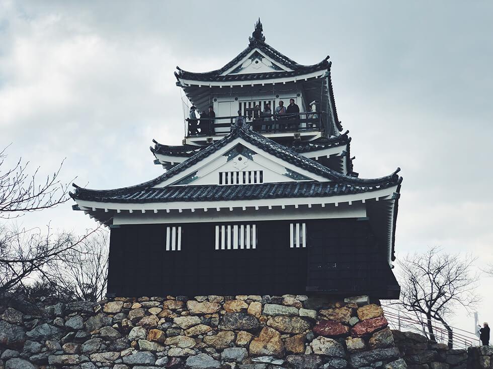 近くから見た浜松城