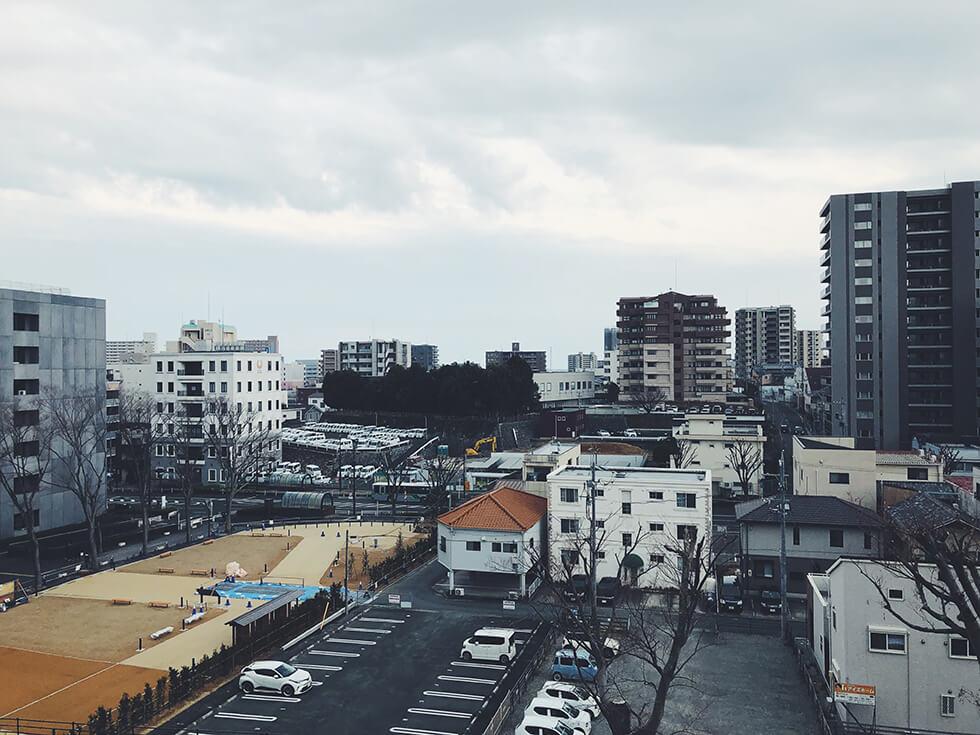 浜松城から見た浜松市の景色