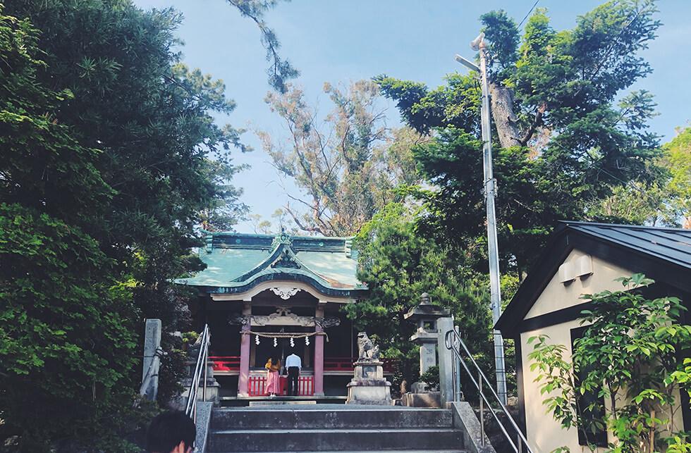 元城町東照宮の入り口