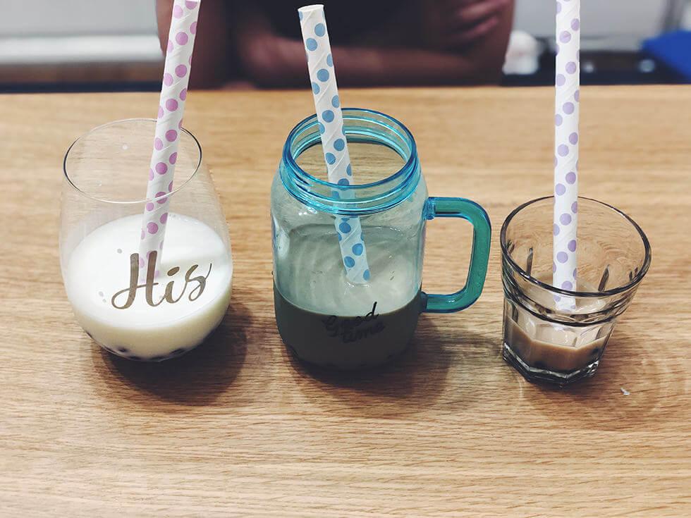 【タピオカドリンク】自宅で子どもと作れる!もっちもちタピオカジュースを3種類の味を試してみた【冷凍タピオカ】