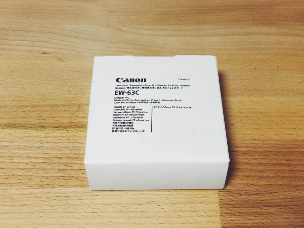 Canon レンズフード EW-63C その1