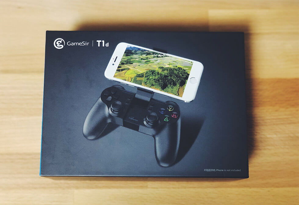 トイドローン Tello 専用 Bluetooth コントローラー GameSir T1d の箱