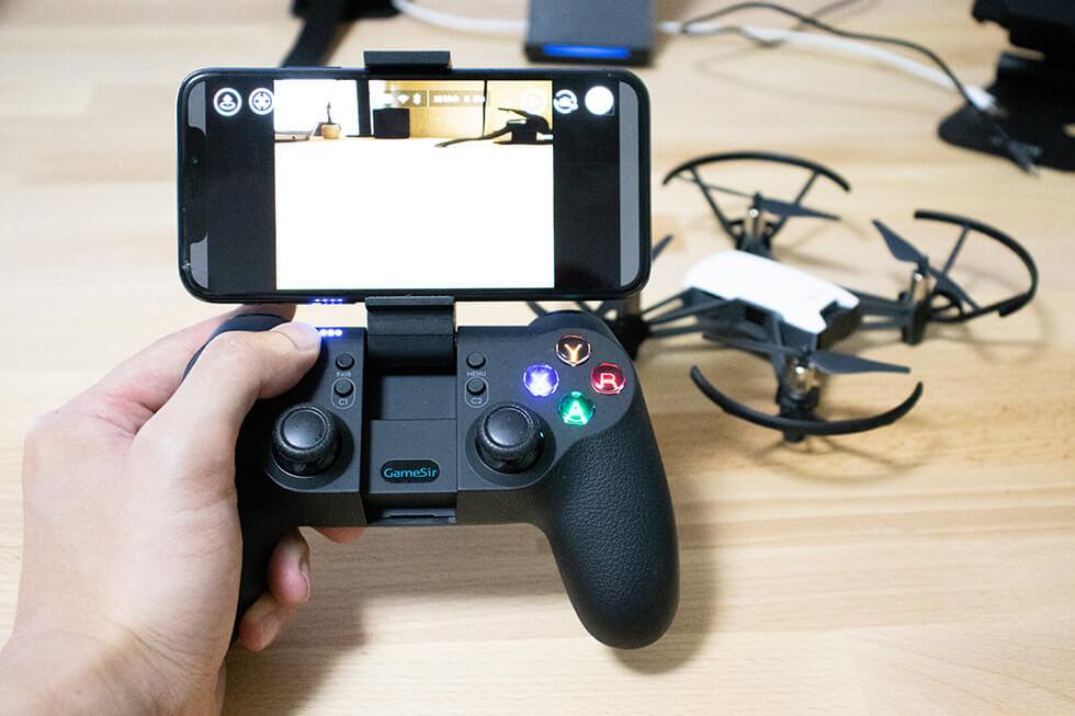 直感的で細かな操作が可能なトイドローン Tello 専用 Bluetooth コントローラー GameSir T1d