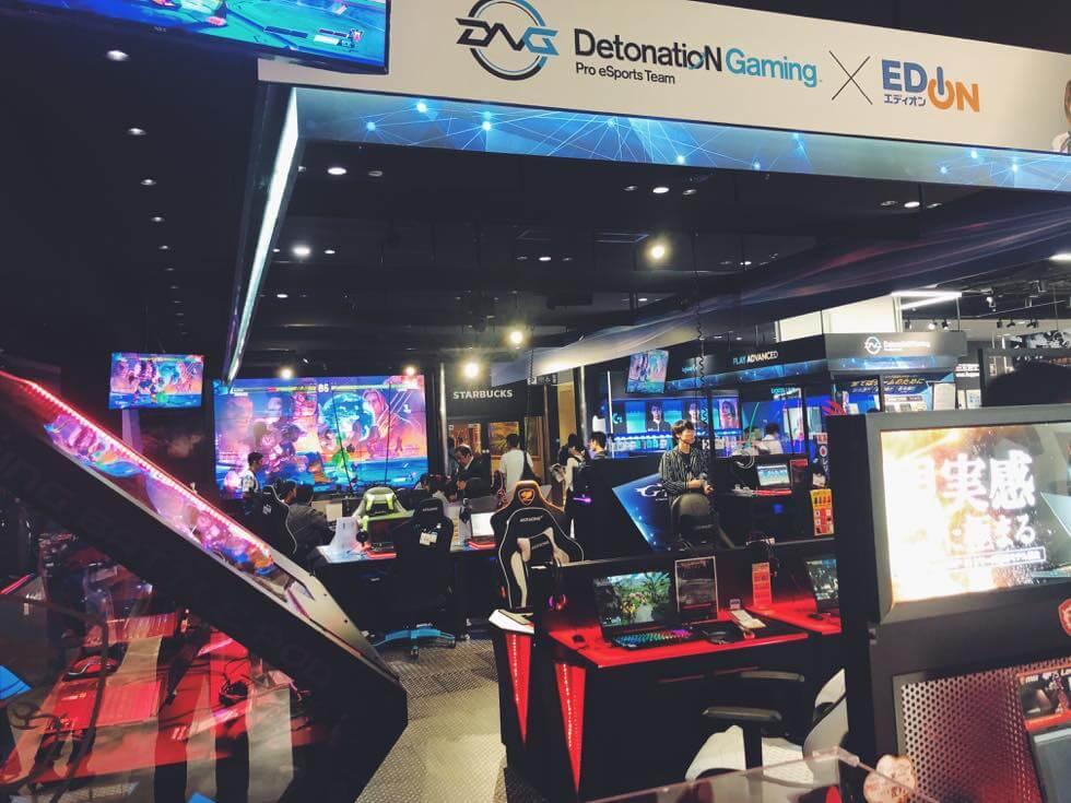 2階フロア: e スポーツ体験ができるデジタルパーク