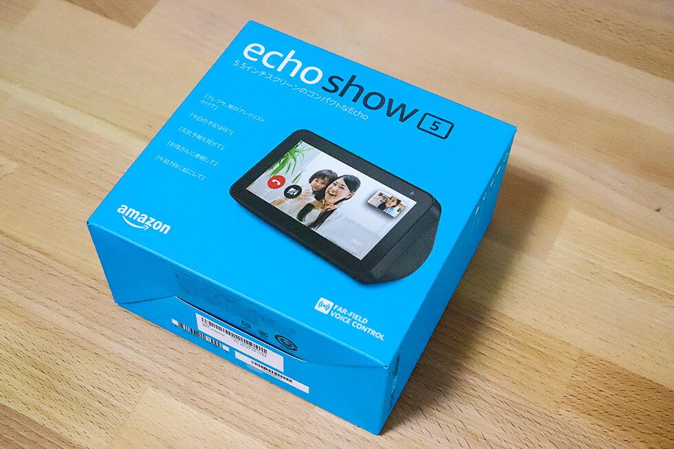 Amazon Echo Show 5の箱