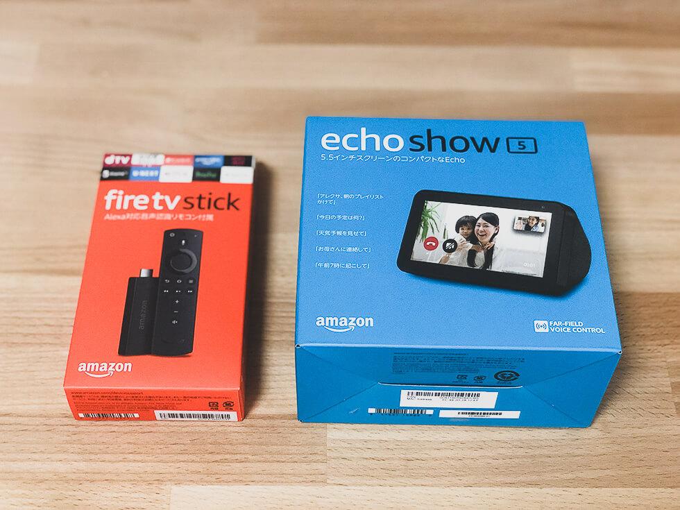 Amazon Echo Show 5 と Fire TV Stick
