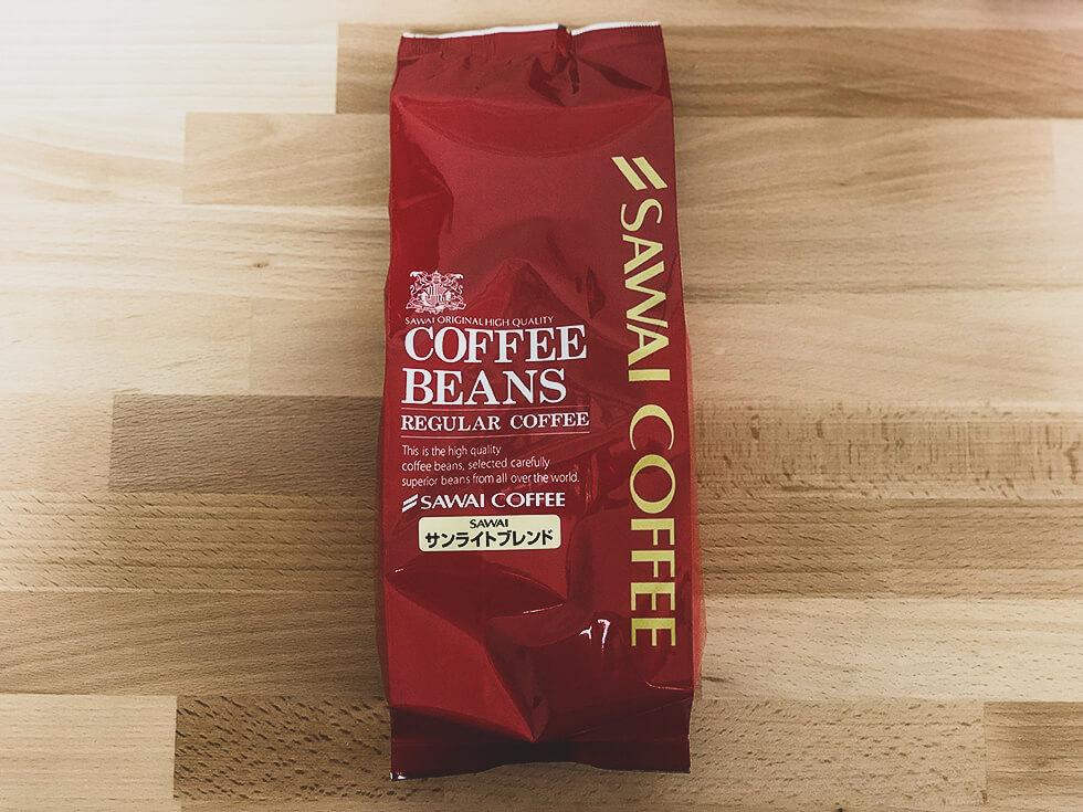 澤井珈琲のコーヒー豆サンライトブレンド