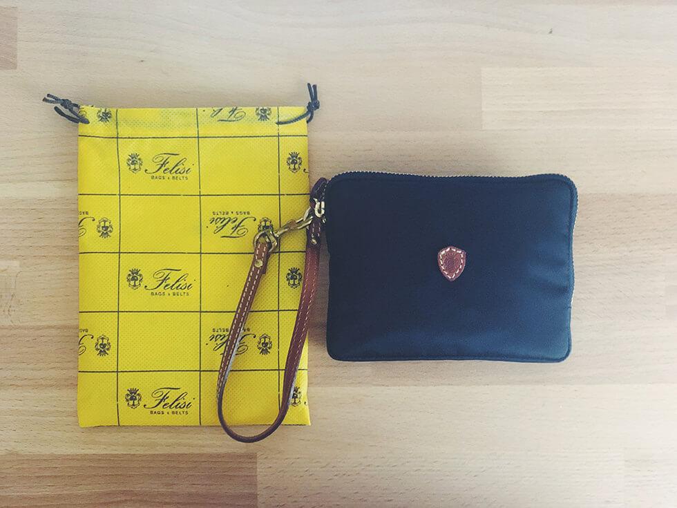 イタリアの鞄ブランド Felisi(フェリージ)のプルームS・スクエアポーチ