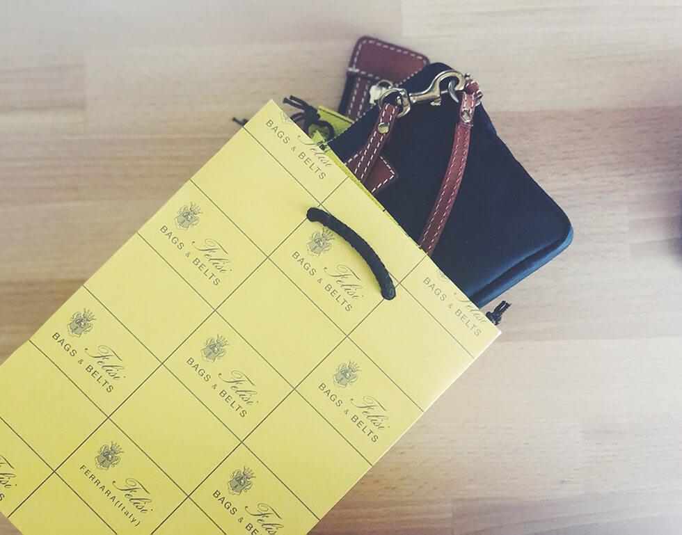 イタリアの鞄ブランド Felisi(フェリージ)コラボポーチとケース