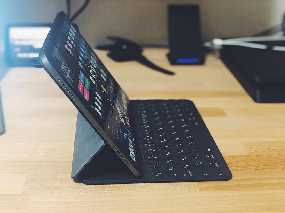 Smart Keyboard Folioの角度55度