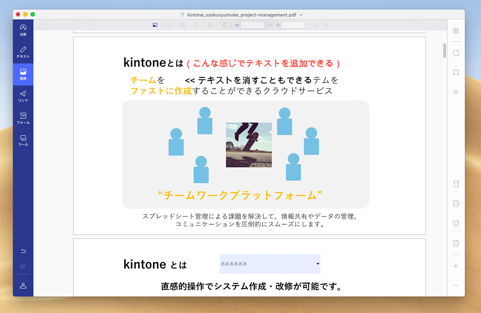PDFファイルに画像挿入