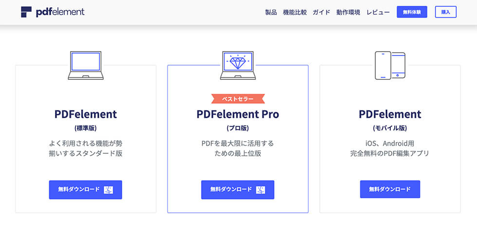 PDF編集ソフト PDFelement のプラン