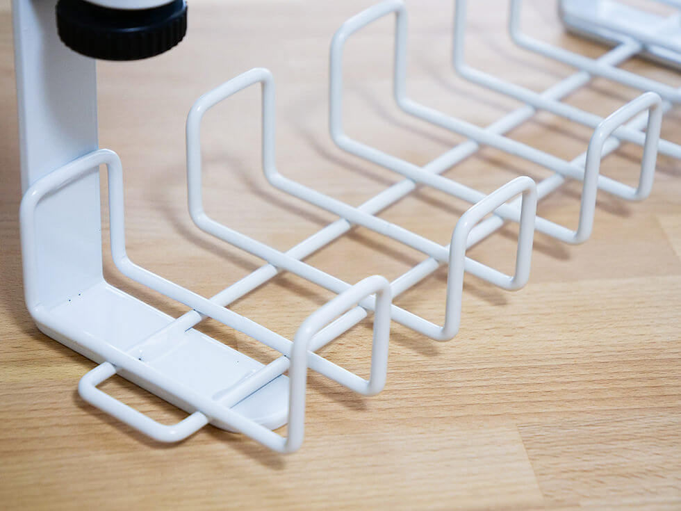Garage 配線整理 ワイヤーケーブルトレーはスチール製