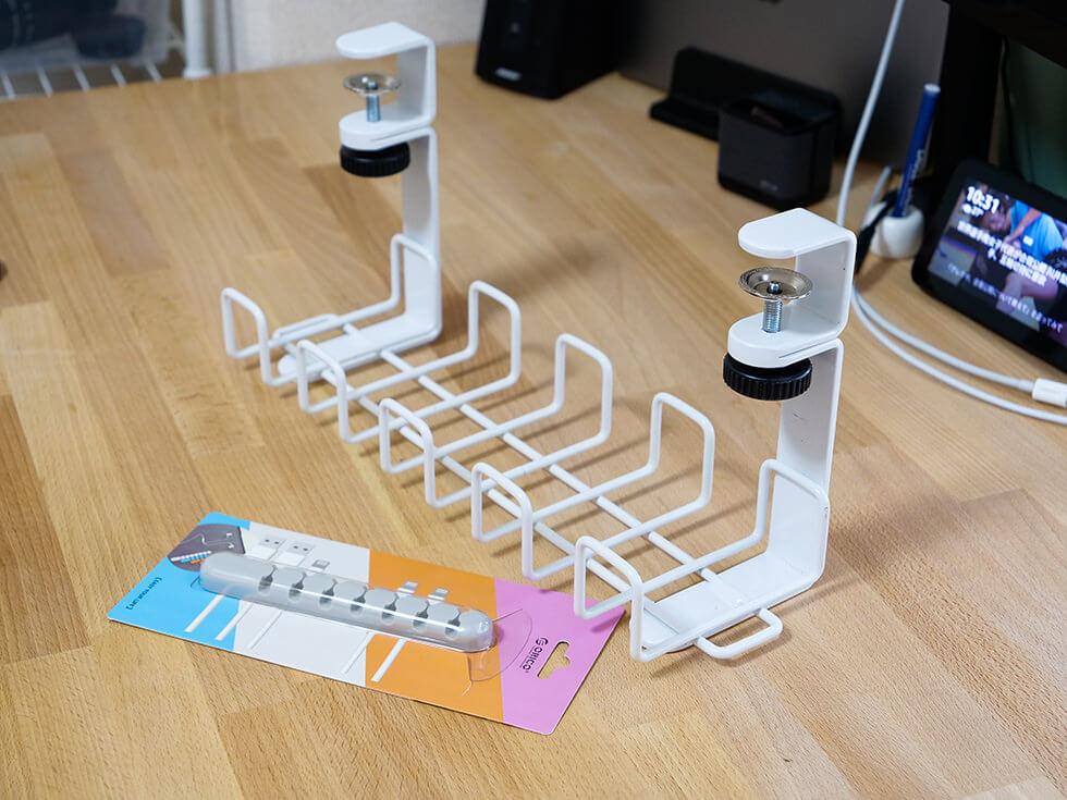 机の配線コードを隠して電源タップやケーブルを整理してみたら快適すぎた!