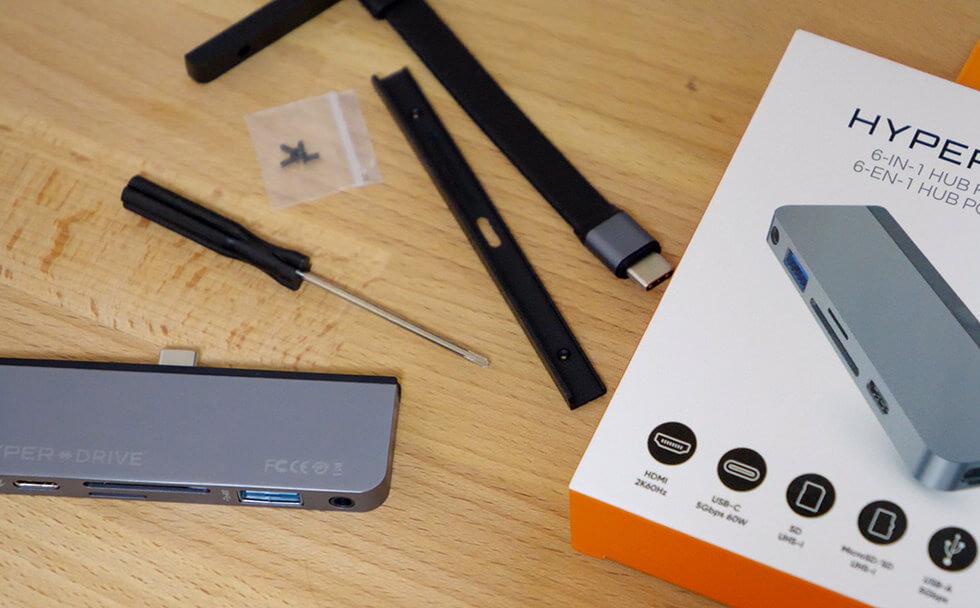 iPad Pro 専用 HyperDrive USB-C ハブの中身