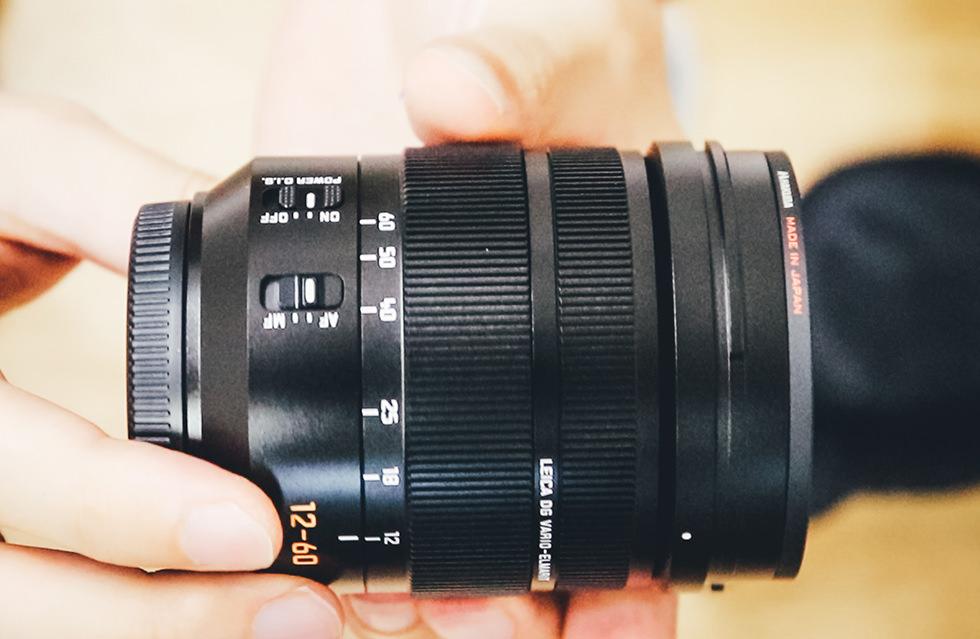 パナソニックのライカ(LEICA DG VARIO-ELMARIT 12-60mm/F2.8-4.0)のアップ