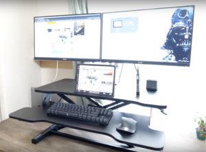 【格安昇降デスク】FITUEYESの手動スタンディングデスクをIKEAの机の上に導入【iPadも置ける】
