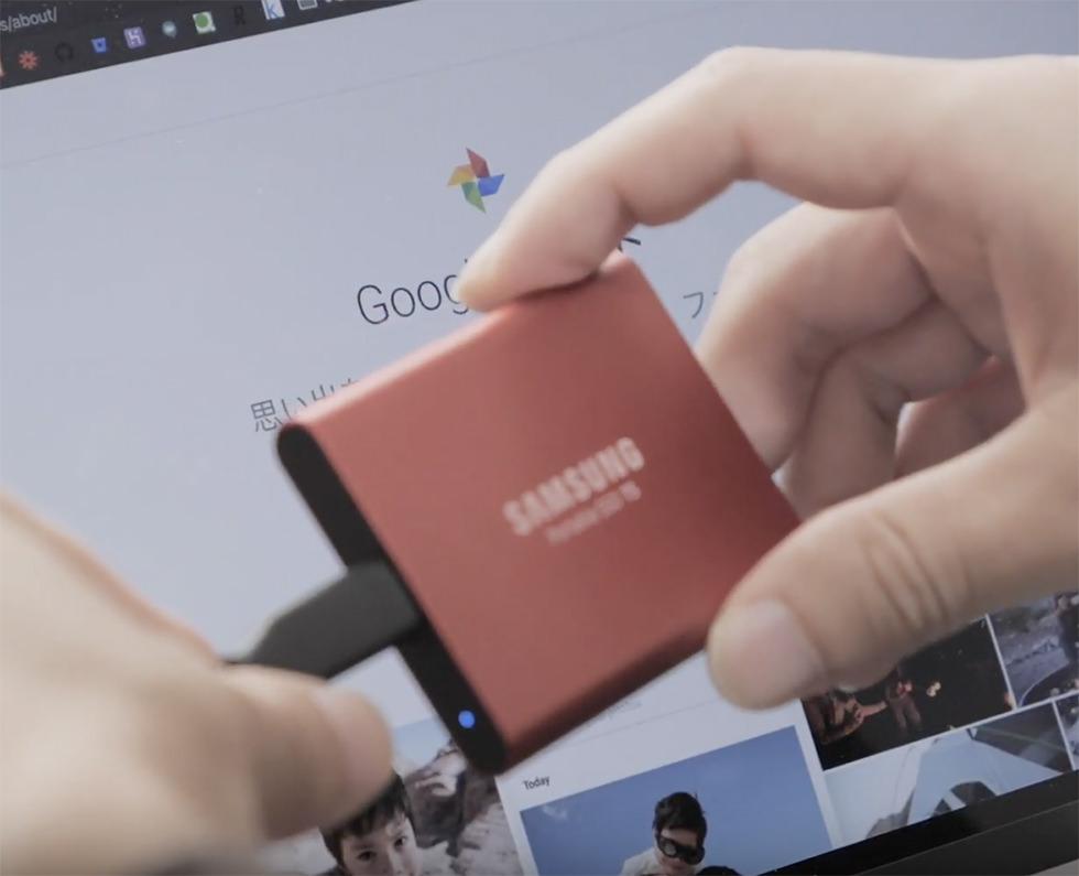 写真や動画を保存するときの使い方の説明