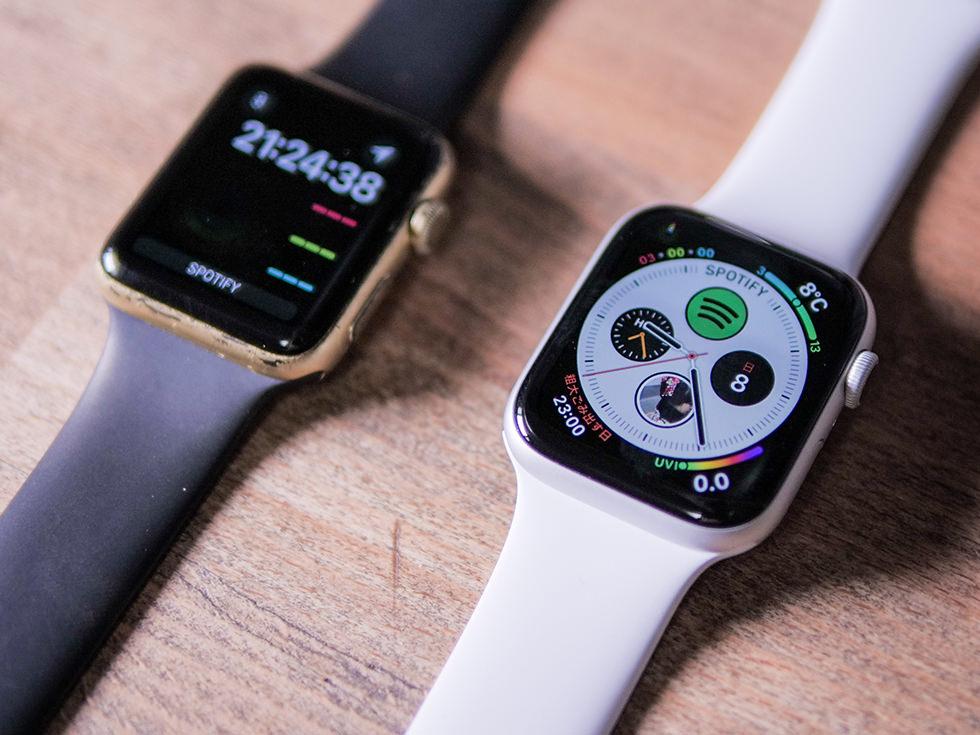 Apple Watch Series 5 と Series 3