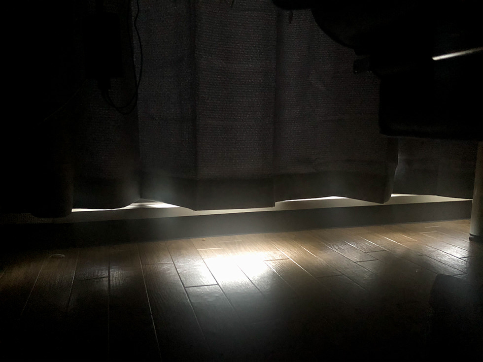 遮光性の高い無印のカーテン