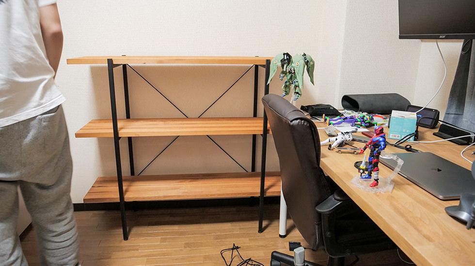 シンプルな収納棚(3段)