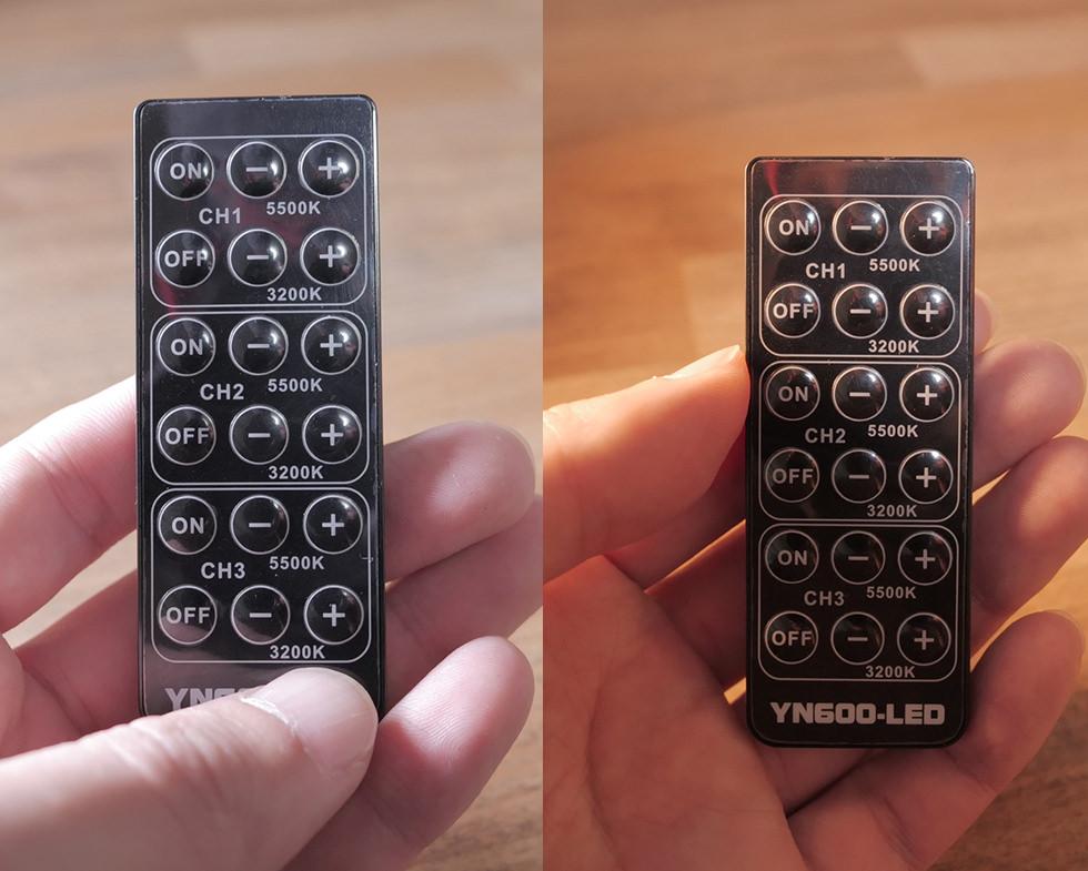 調光パネルを使った撮影の比較