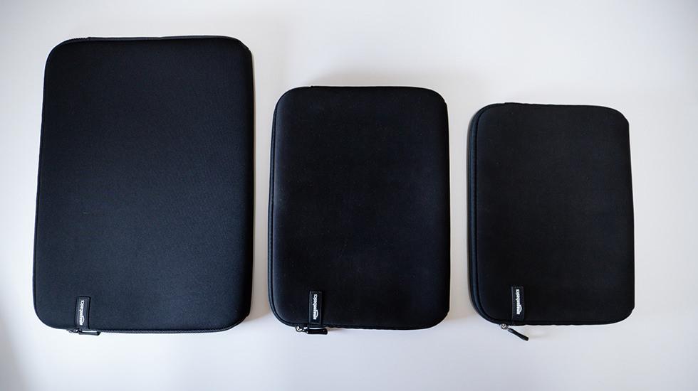 Apple製品を収納したAmazonベーシックのケース